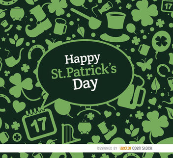 St. Patrick's elements green background - Free vector #163629