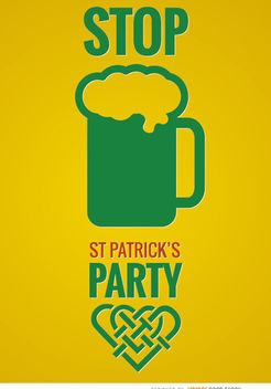 ST. Patrick's party beer poster - vector gratuit #163649