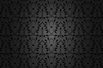 Black Seamless Floral Pattern - vector gratuit #163779