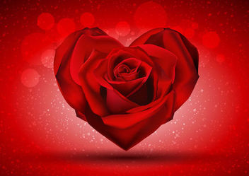 Rose Heart Valentine Background - vector gratuit #163839
