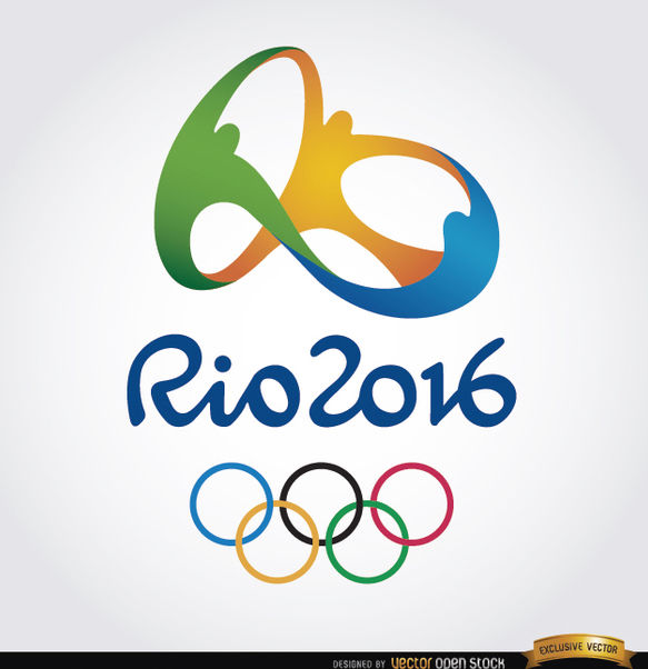 Rio 2016 Olympics official background - vector gratuit #163849