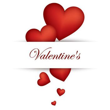 Labeled Red Hearts Valentine Card - vector gratuit #163869