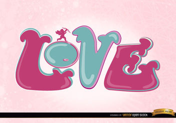 Love cupid pink wallpaper - бесплатный vector #163959