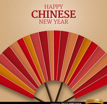 Chinese New Year fan background - vector gratuit #163979