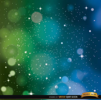 Space blue green background - vector gratuit #163999