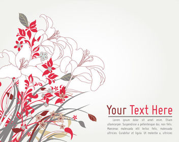 Retro Abstract Floral Corner Card Template - vector gratuit #164099