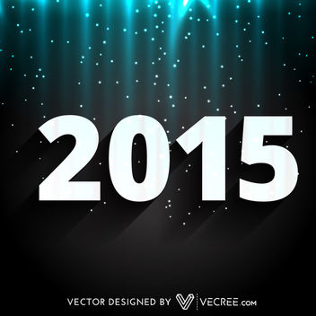 2015 New Year on Glowing Night Background - vector gratuit #164179