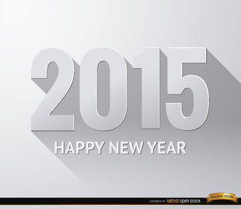 2015 new year white gradient wallpaper - Free vector #164229
