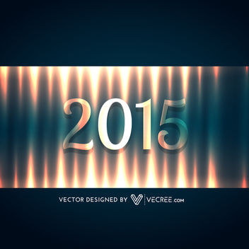 Lightening Effect 2015 Typography New Year Background - vector gratuit #164409