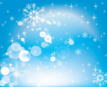 Simplistic Glittery Blue Christmas Background - Free vector #164589