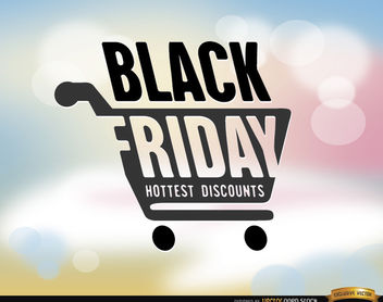 Black Friday shopping cart background - Free vector #164719