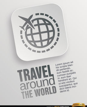 World travel symbol poster - vector gratuit #164779
