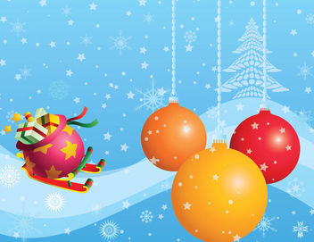 Funky Style Decorative Christmas Background - vector gratuit #164879