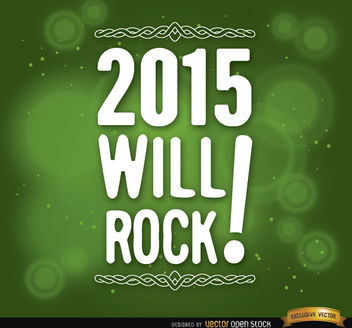 2015 message green background - Free vector #164889