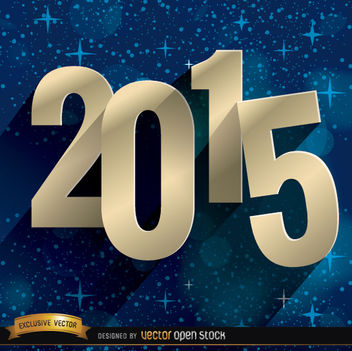 2015 stars blue background - Free vector #165009