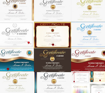 Decorative Certificate & Credential Template Pack - Kostenloses vector #165139