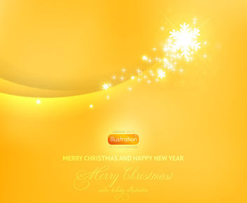 Yellow Blended Curves Background with Sparkles - vector gratuit #165149