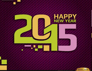 Happy 2015 year retro background - vector gratuit #165169