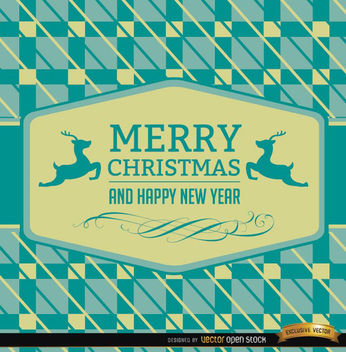 Christmas reindeer card abstract background - vector #165189 gratis