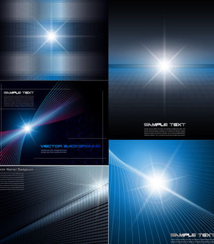 Glowing Light Abstract Dynamic Background Set - бесплатный vector #165239