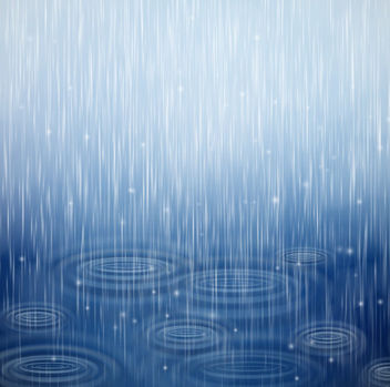Realistic Raindrop Textured Blue Background - vector #165269 gratis