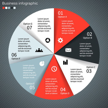Elegant Rounded Business Infographic Template - vector gratuit #165319