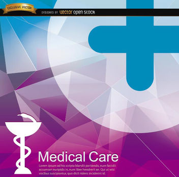 Medical polygon background - vector gratuit #165349