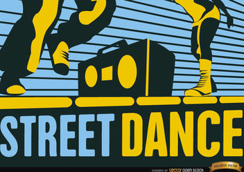 Street Hip-Hop dance wallpaper - vector gratuit #165499