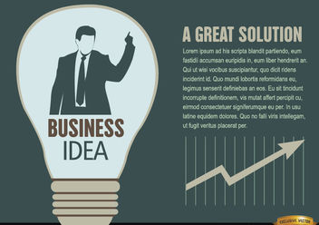 Businessman idea light bulb - vector #165509 gratis