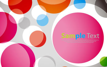 Colorful Circles Background Template - Free vector #165519