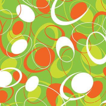 Seamless Abstract Flat Circular Pattern - vector gratuit #165539