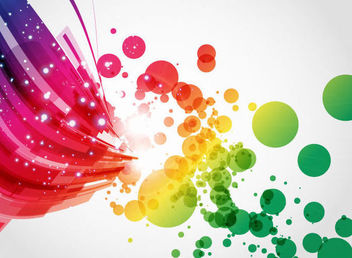Colorful Abstract Lines and Splats Background - Free vector #165549