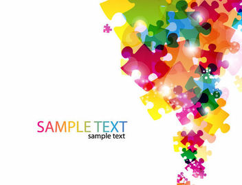 Colorful Glossy Puzzles Business Background - vector gratuit #165599
