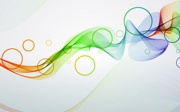 Colorful Smoky Spiral Lines & Circles - Free vector #165619