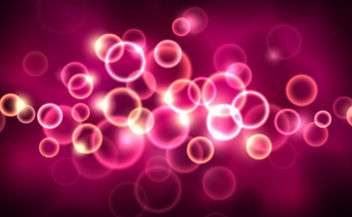 Glowing Pink Bokeh Bubbles Background - vector gratuit #165679