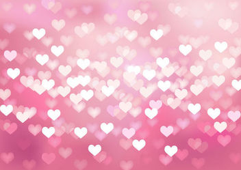 Glowing Bokeh Hearts Wedding Background - бесплатный vector #165689