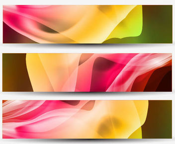 Waving Curves Colorful 3 Header Backgrounds - бесплатный vector #165769