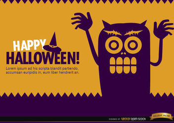 Halloween creepy monster wallpaper - Free vector #165879
