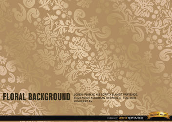 Elegant ornate gold floral background - Free vector #165889