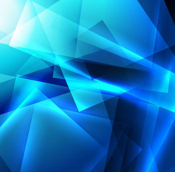 Bright Blue Crystallized Squares Background - vector gratuit #165949