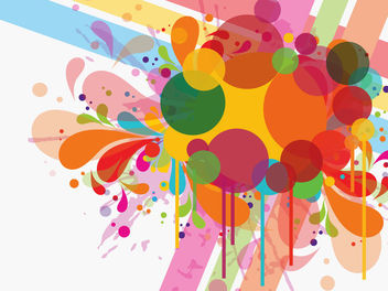 Colorful Swirls Splash & Circles - Free vector #166019
