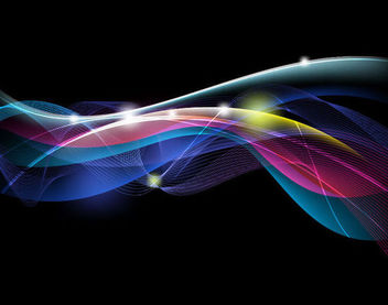 Energy Stream Lines & Curves Background - vector #166059 gratis