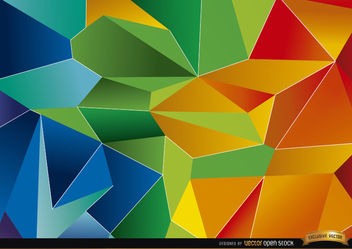 Colorful polygon background - Kostenloses vector #166069