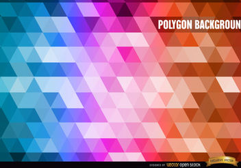 Polygon gradient colors background - Free vector #166119
