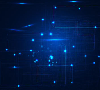 Abstract Glowing Blue Overlapping Squares Background - бесплатный vector #166329
