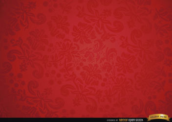 Red floral ornament background - Free vector #166349