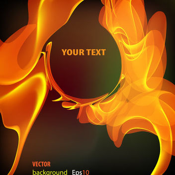 Creative Floating Flames with Abstract Banner - vector #166439 gratis