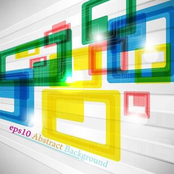 Dynamic Colorful Squares & Linen Background - бесплатный vector #166499