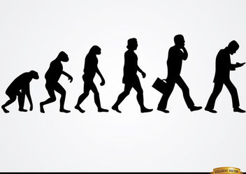 Businessman evolution silhouettes - vector gratuit #166519