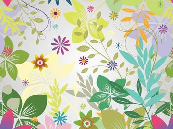 Funky Flower Garden Colorful Background - Free vector #166669
